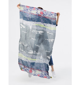 White Stuff White Stuff Lighthouse Print Scarf
