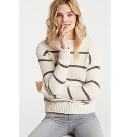 Yaya Yaya Chenille Stripe Sweater