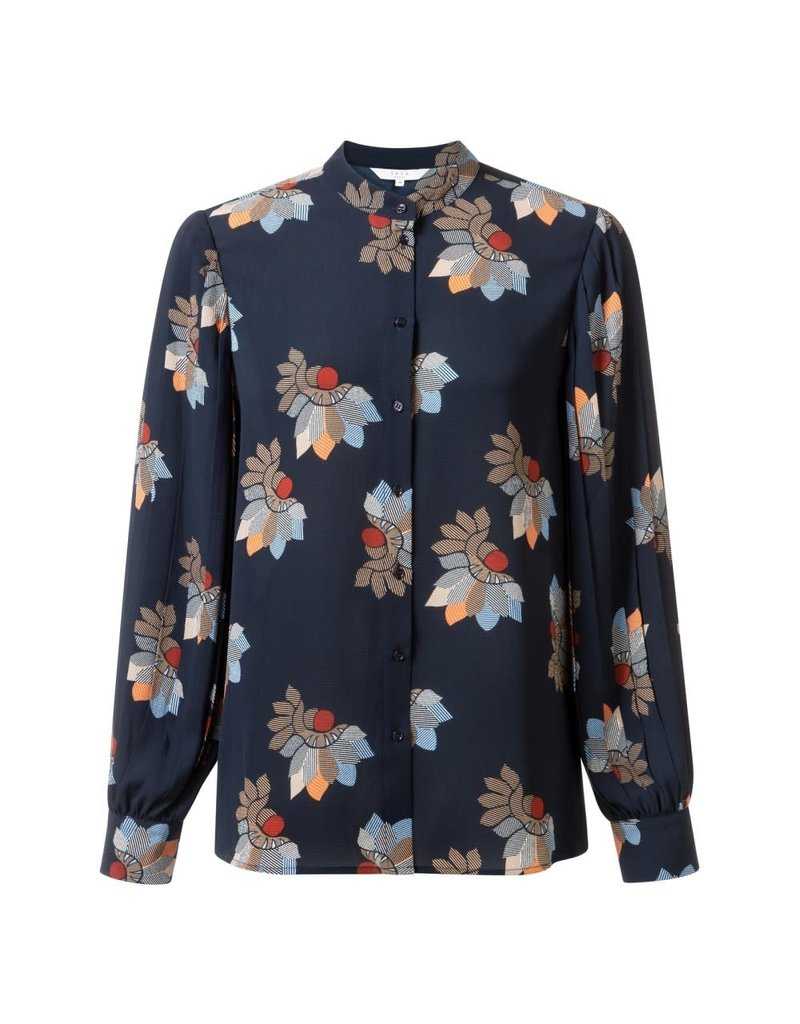 Yaya Yaya Blouse Plisse with Flower Print