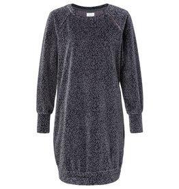 Yaya Yaya Velvet Print Dress