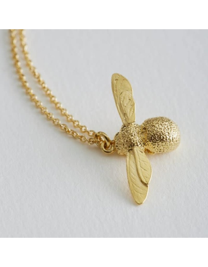Alex Monroe Alex Monroe Gold Baby Bee Necklace