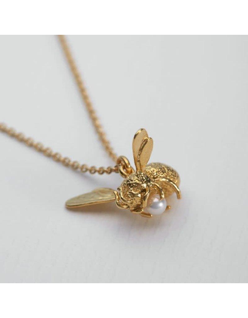 Alex Monroe Alex Monroe Flying Bee Pearl Necklace