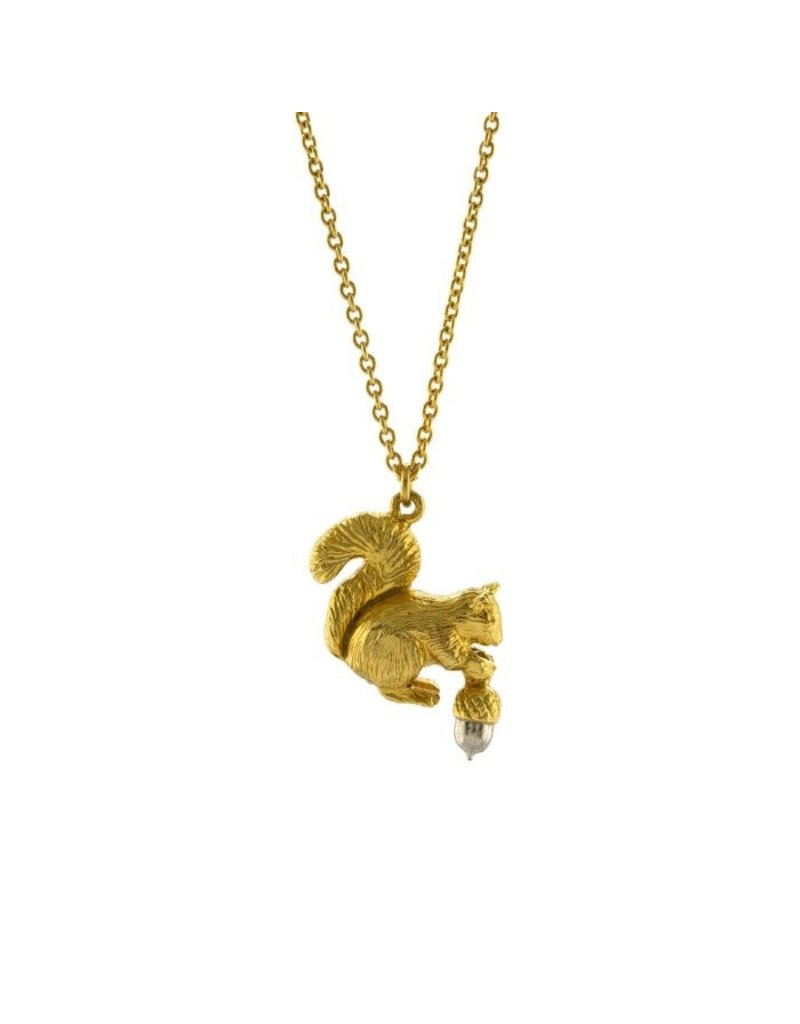 Alex Monroe Alex Monroe Squirrel & Acorn Necklace