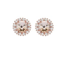 Rebekah Price Rebekah Price Silk Mini Studs with Strass Rose Gold