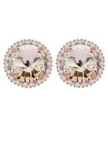 Rebekah Price Rebekah Price Rivoli Stud Earrings with Strass