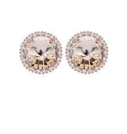 Rebekah Price Rebekah Price Rivoli Stud Earrings with Strass