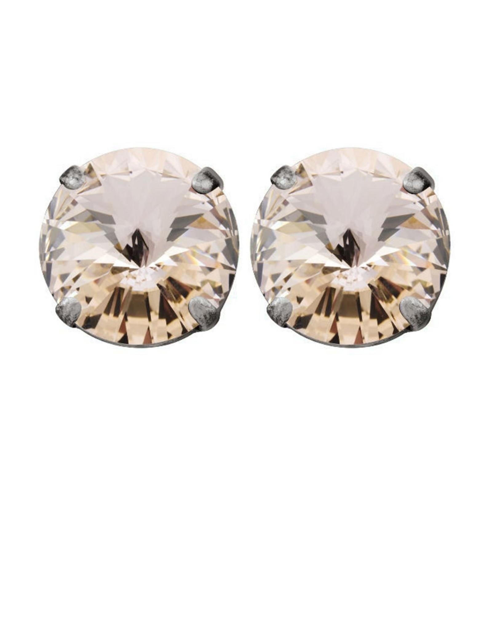 Rebekah Price Rebekah Price Rivoli Silver Stud Earrings