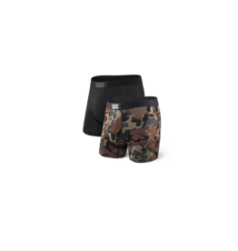 Saxx Saxx Vibe Boxer Brief 2 Pack - Black Wood Camo