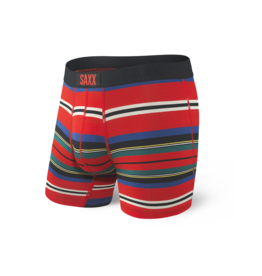 Saxx Saxx Vibe Boxer Brief - Red Tartan Stripe