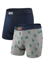 Saxx Saxx Vibe Boxer Brief 2 Pack - Cactus/Navy