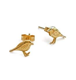 Alex Monroe Alex Monroe Little Robin Stud Earrings