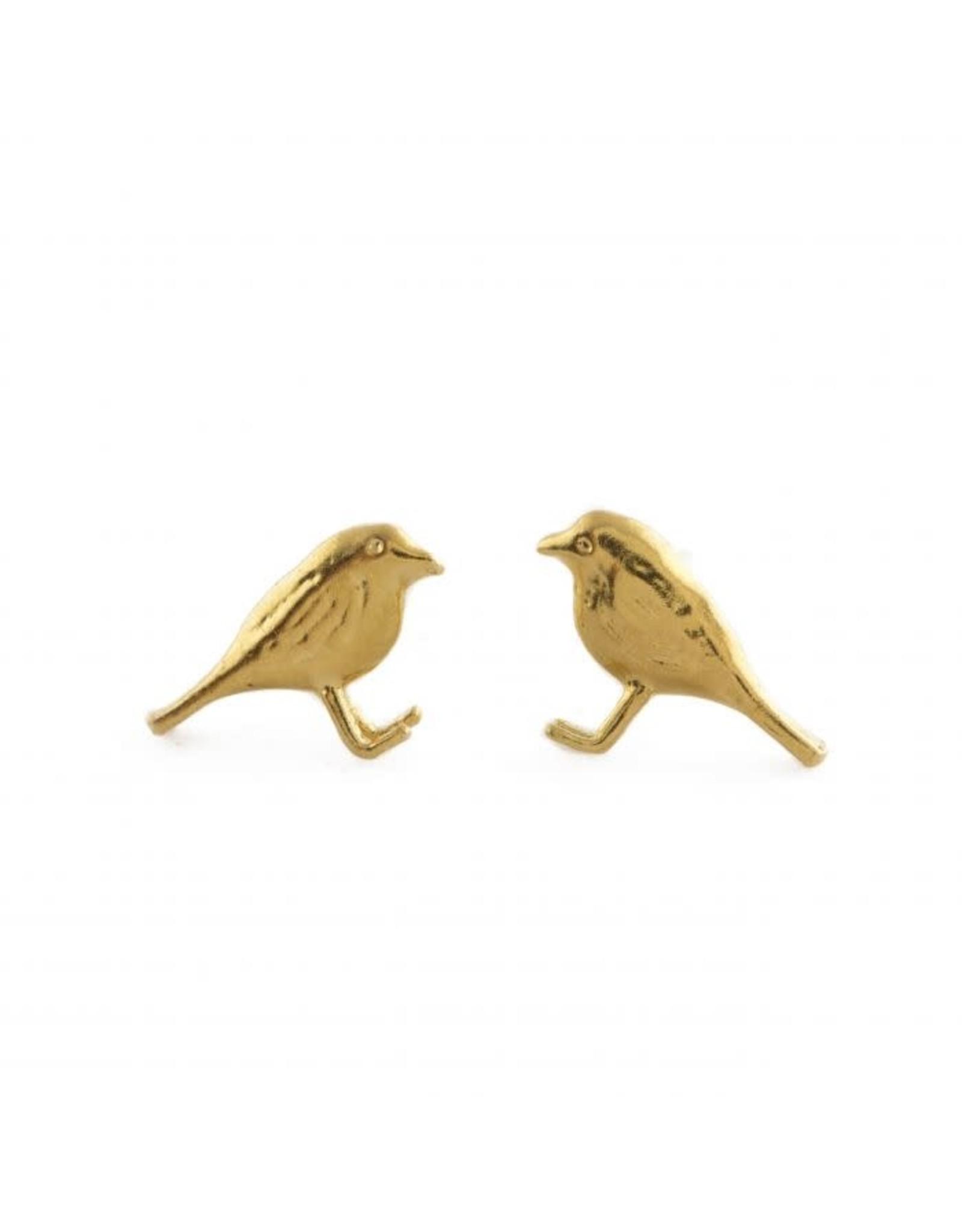 Alex Monroe Alex Monroe Little Robin Stud Earrings