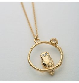 Alex Monroe Alex Monroe Moonstone Owl Necklace