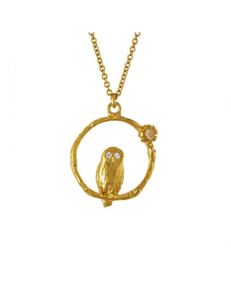 Alex Monroe Alex Monroe Moonstone Owl Necklace