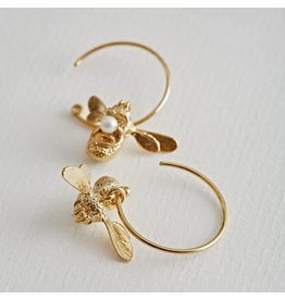 Alex Monroe Alex Monroe Flying Bee Hoop Earrings