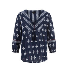 Tribal Tribal 3/4 Sleeve Blouse with Tassel