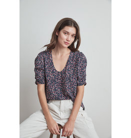 Velvet Velvet Dawn Printed SS Top