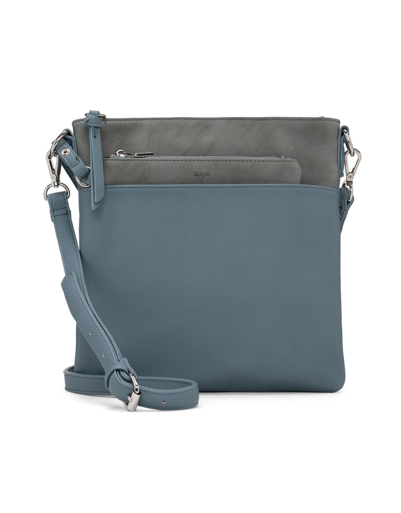 co-lab co-lab Suede Flat Crossbody with Pouch