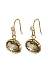 Pilgrim Pilgrim Air Earrings Gold Plated Grey