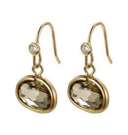 Pilgrim Air Earrings Gold Plated Grey