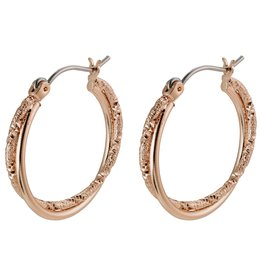Pilgrim Pilgrim Air Hoops Rose Gold Plated