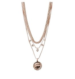 Pilgrim Pilgrim Air Necklace Rose Gold Plated