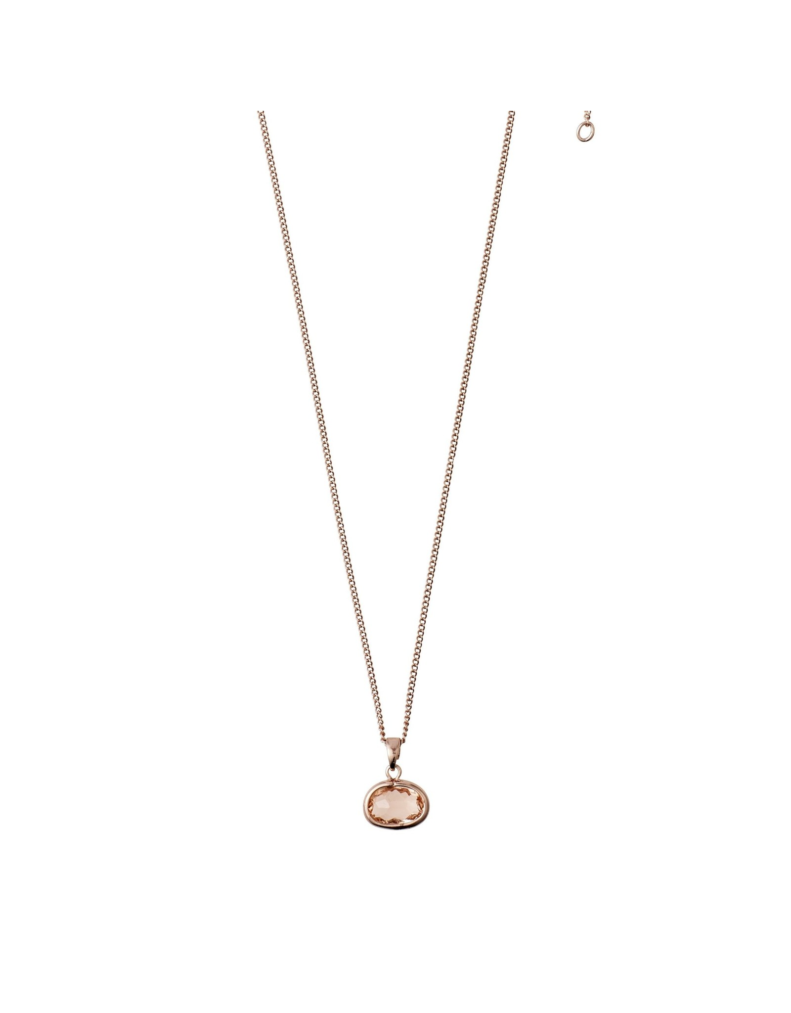 Pilgrim Pilgrim Air Necklace Rose Gold Plated Brown