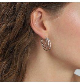 Pilgrim Akira Earrings Silver Plated