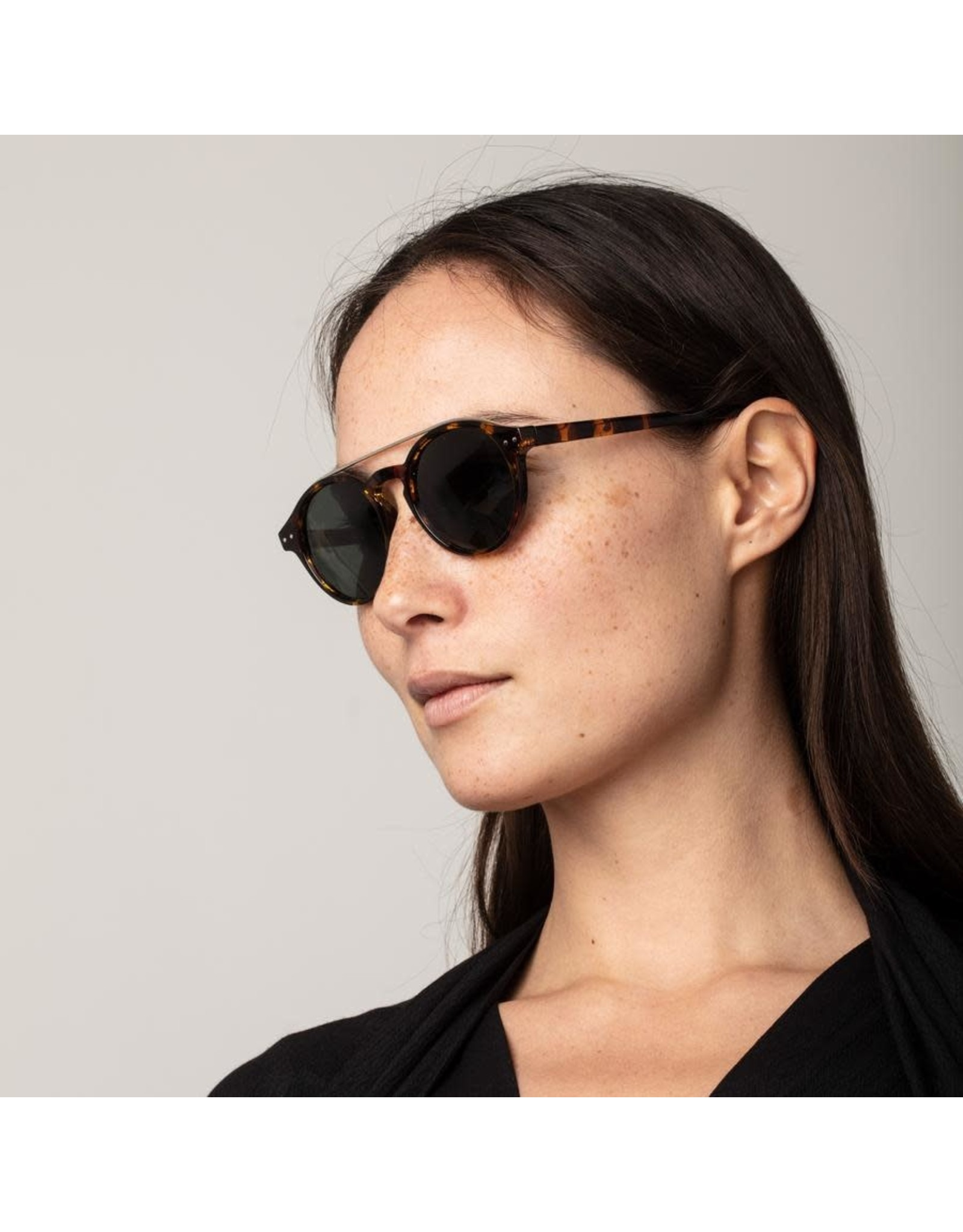 Pilgrim Pilgrim Carrie Sunglasses Silver Plated Brown