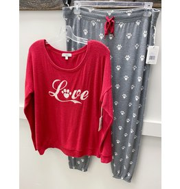 PJ Salvage PJ Salvage Animal Lover Paw Print PJ Set