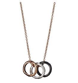 Pilgrim Pilgrim Daisy Necklace Mix Metal Plated Rose Gold
