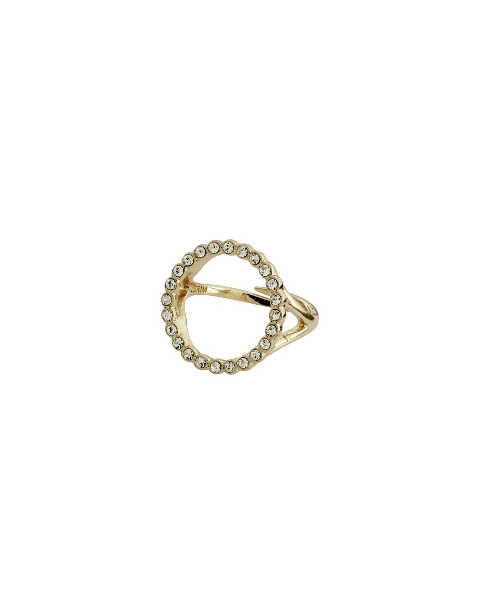 Pilgrim Pilgrim Malin Ring Gold Plated Crystal