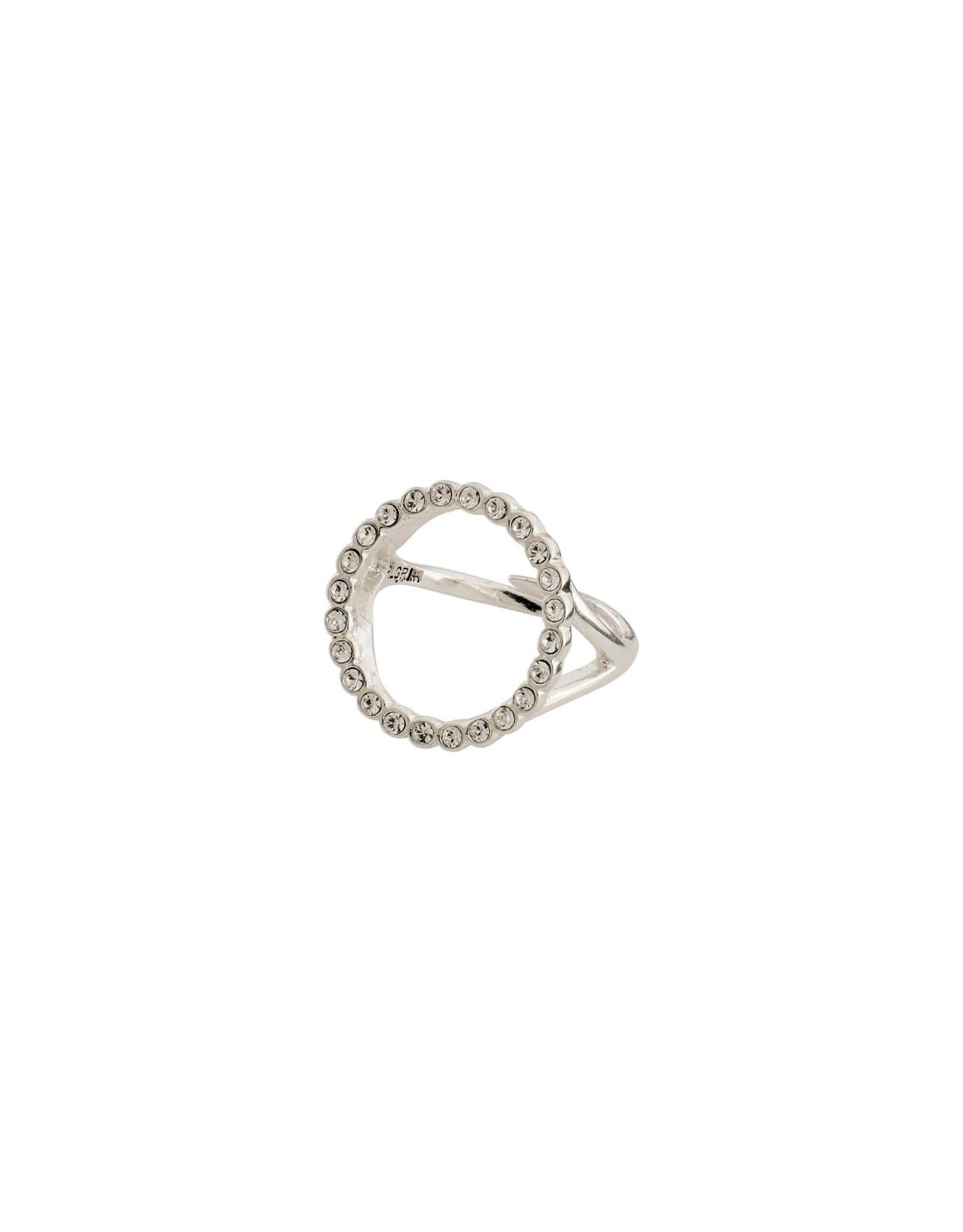 Pilgrim Pilgrim Malin Ring Silver Plated Crystal