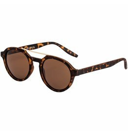 Pilgrim Sunglasses Gold Plated Brown