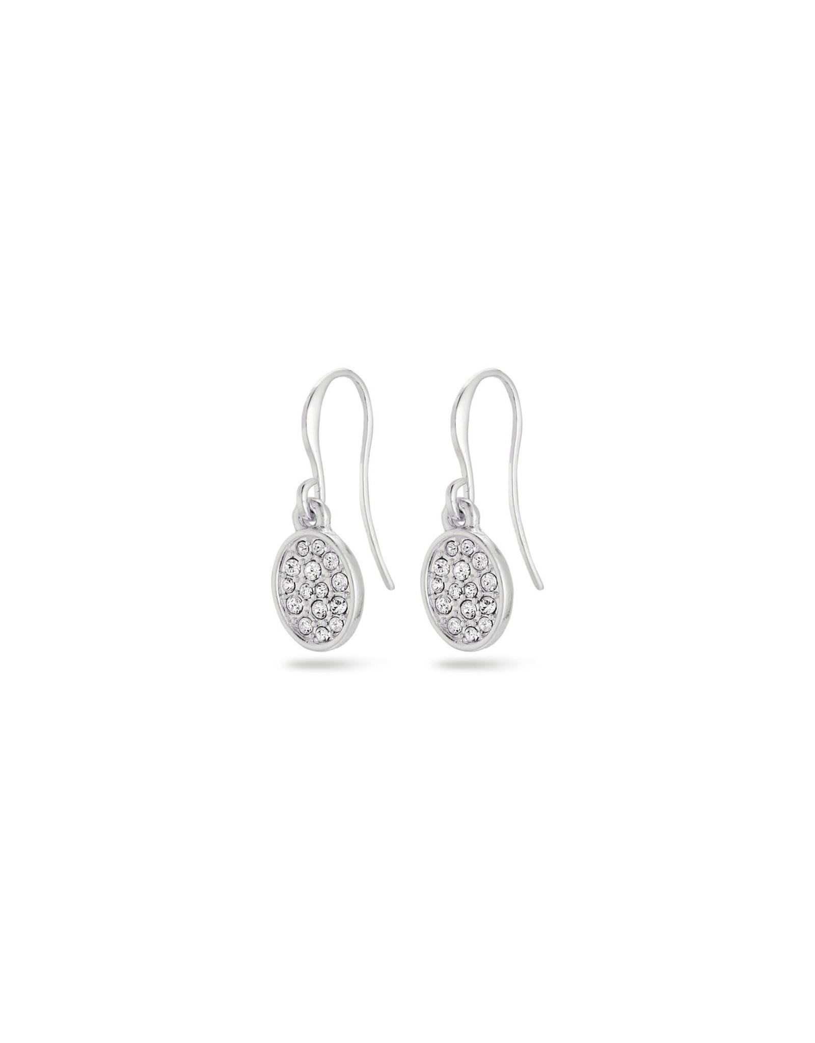 Pilgrim Pilgrim Urd Earrings Silver Plated Crystal
