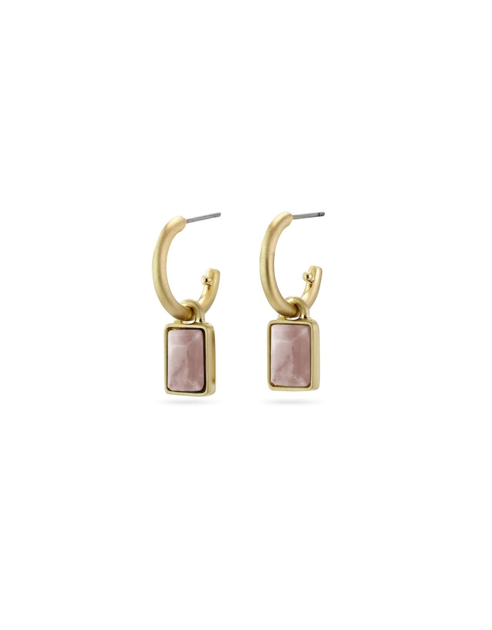 Pilgrim Pilgrim Verdandi Earrings Gold Plated Nude