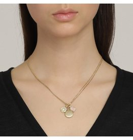 Pilgrim Verdandi Necklace Gold Plated Nude II