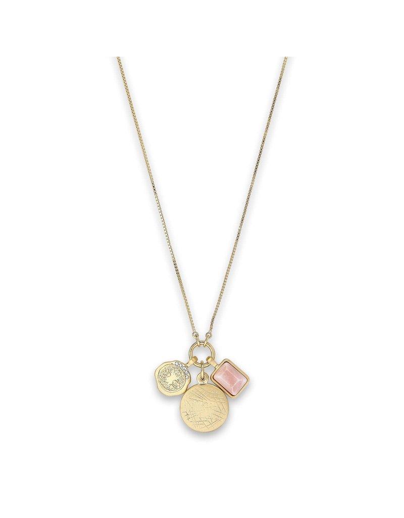 Pilgrim Verdandi Necklace Gold Plated Nude II