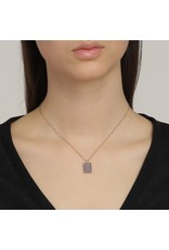 Pilgrim Verdandi Necklace Rose Gold Plated Grey