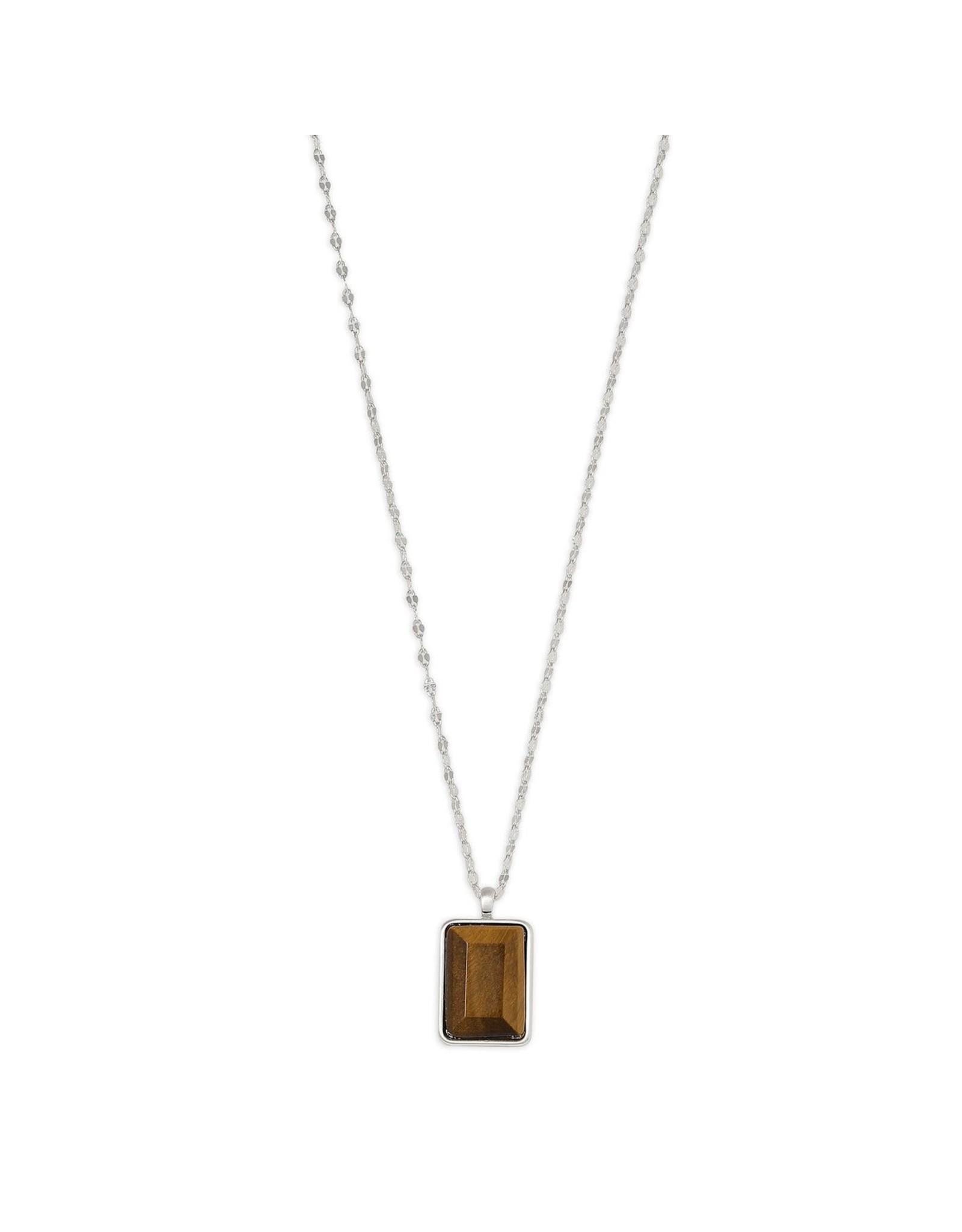 Pilgrim Pilgrim Verdandi Necklace Silver Plated Brown