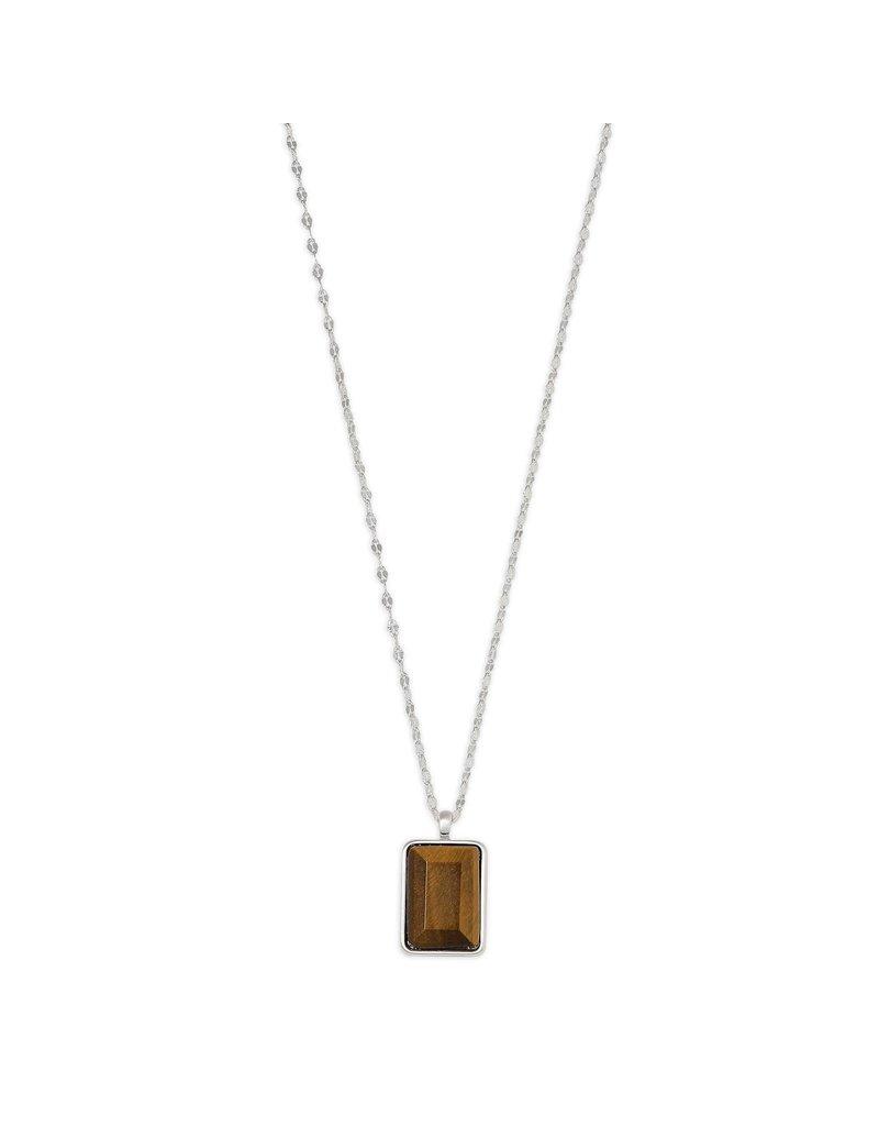 Pilgrim Verdandi Necklace Silver Plated Brown