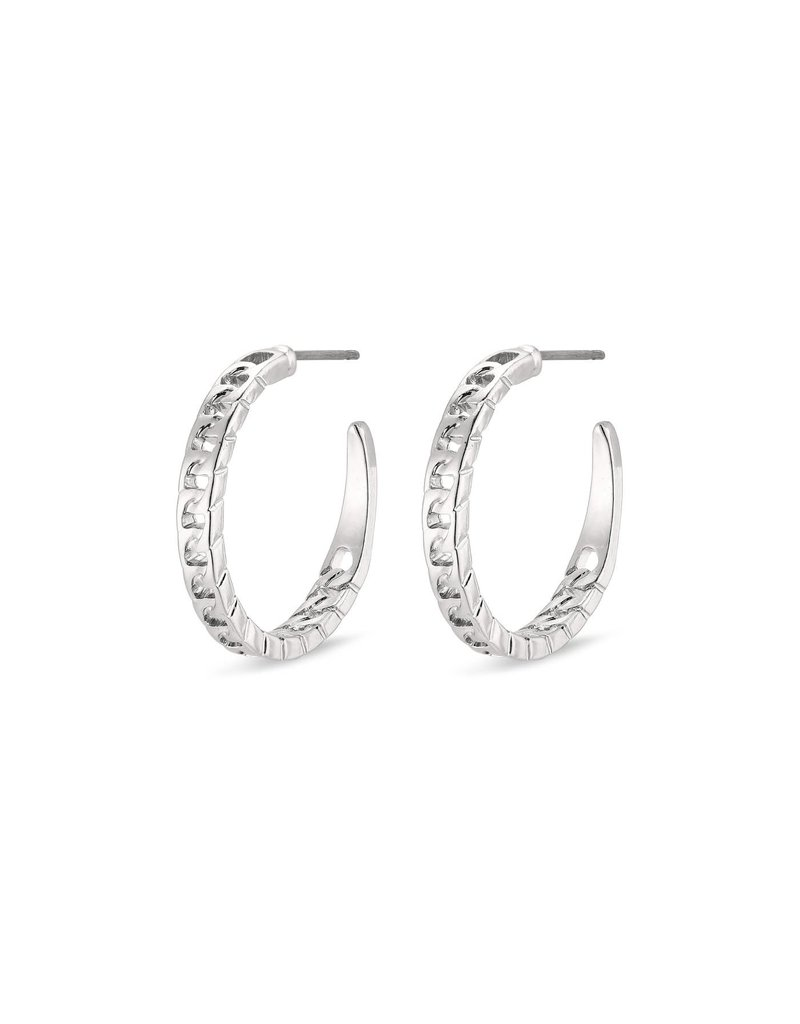 Pilgrim Yggdrasil Silver Plated Earrings II