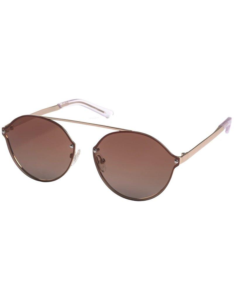 Pilgrim Zadie Sunglasses Gold Plated Brown