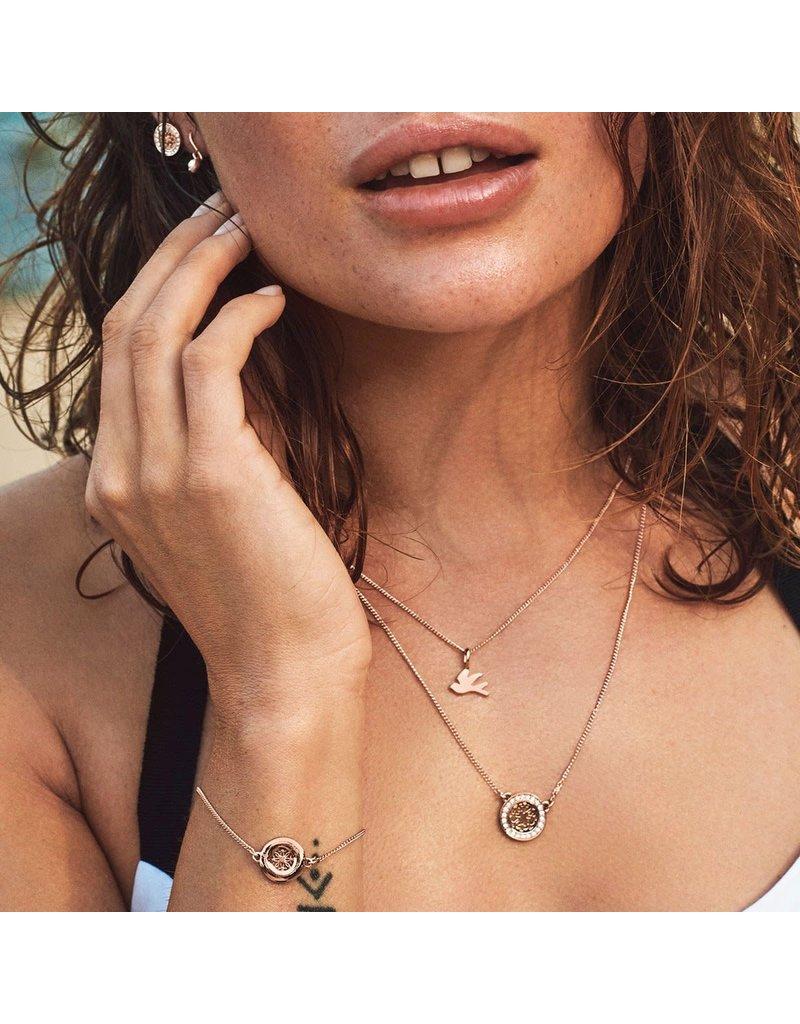 Pilgrim Zora Necklace Rose Gold Plated : Crystal
