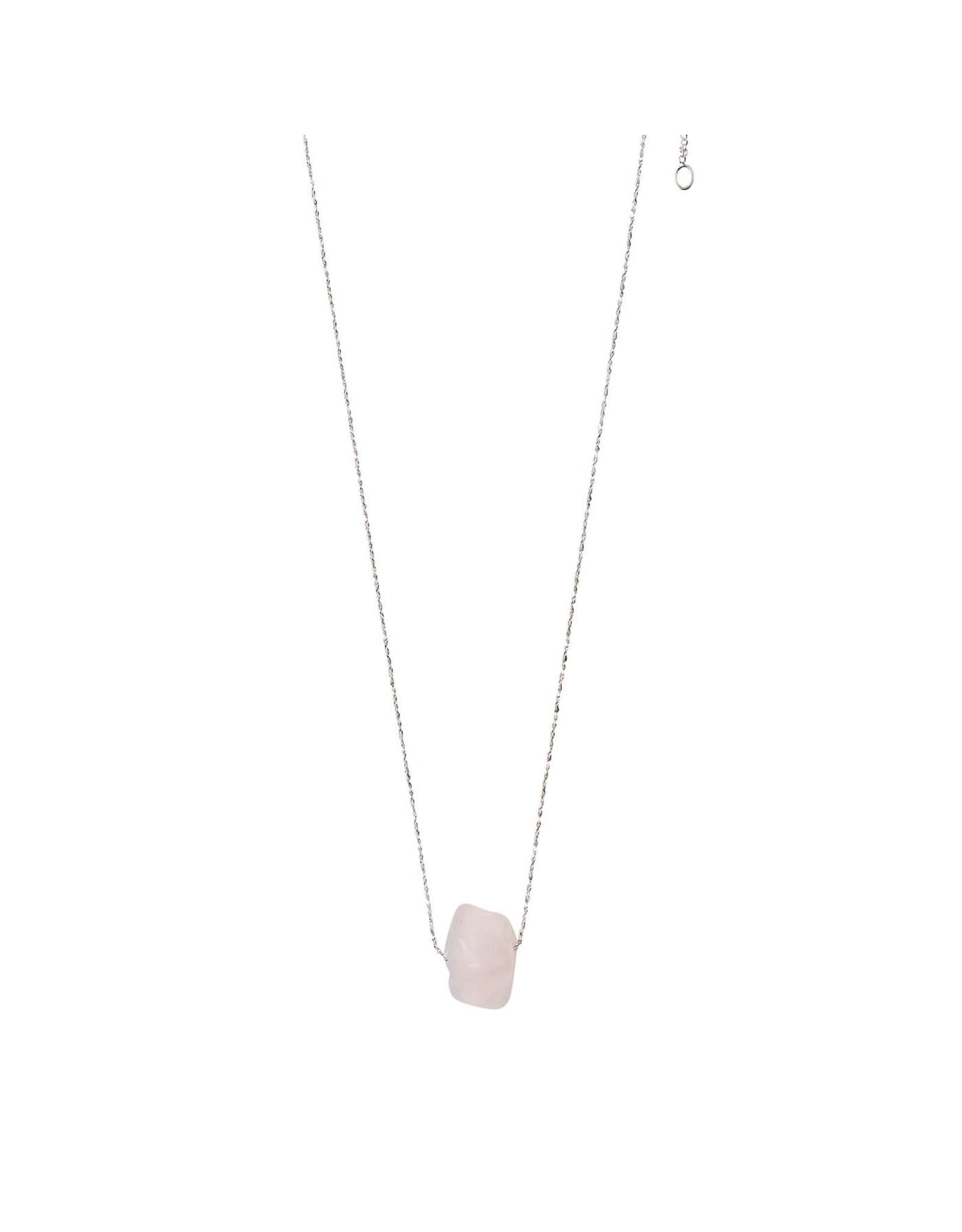 Pilgrim Pilgrim Necklace - Heart Chakra - Silver Plated - Rose Quartz