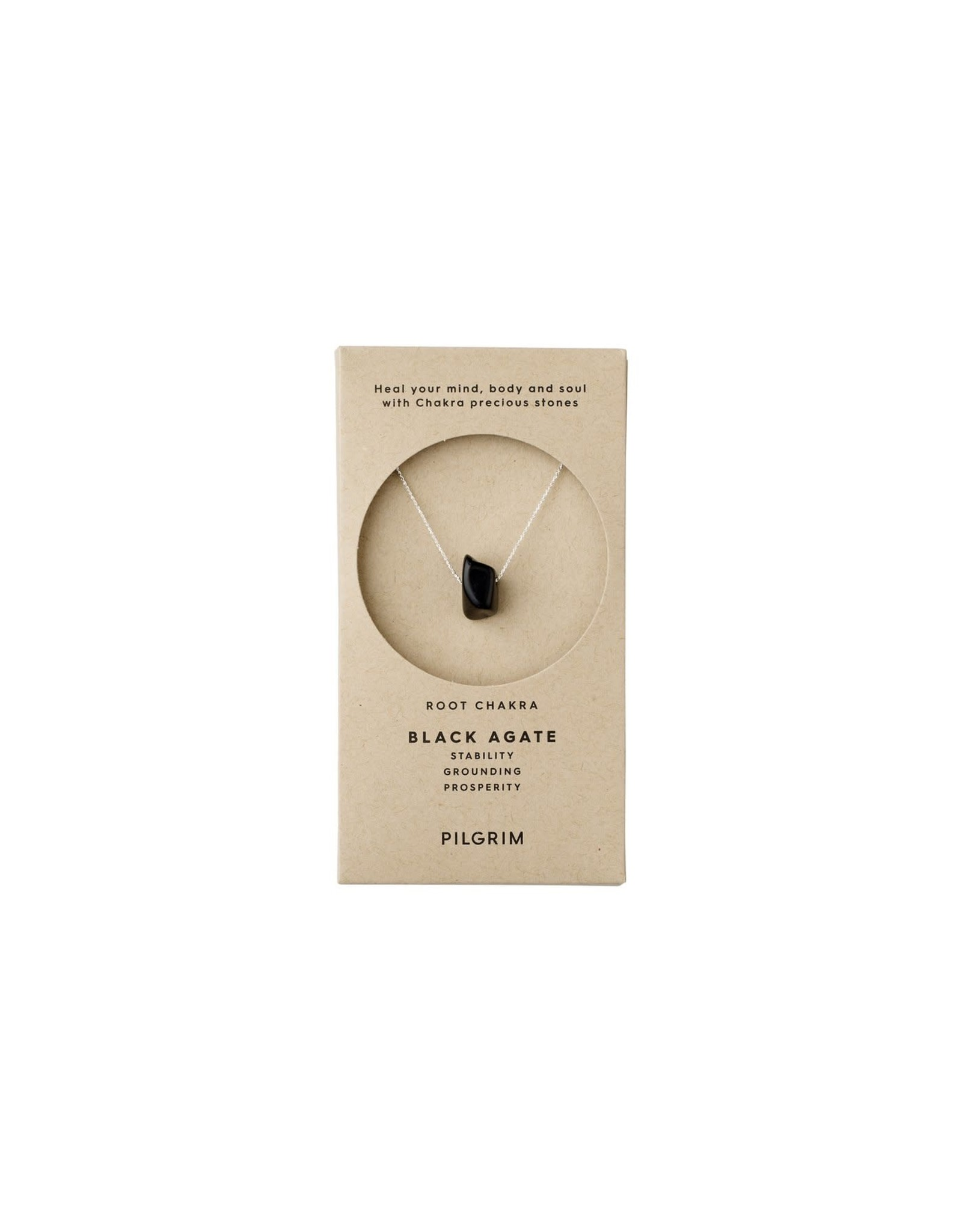 Pilgrim Pilgrim Necklace - Root Chakra - Silver Plated - Black Agate