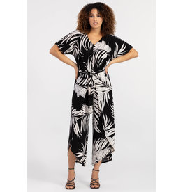 Tribal Tribal Dolman Sleeve Jumpsuit - SMALL