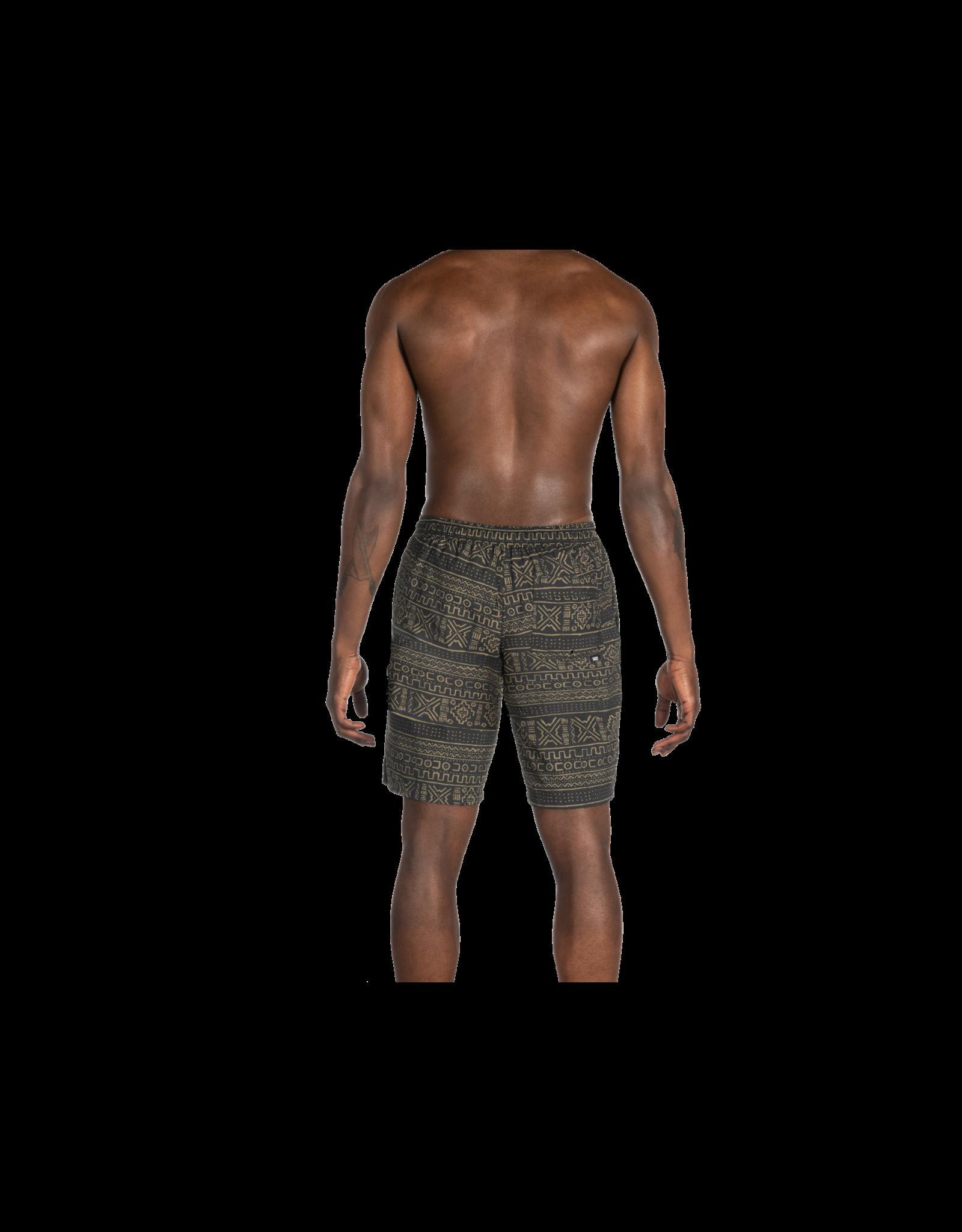 Saxx Saxx Cannonball 2N1 Long - Black Mud Cloth