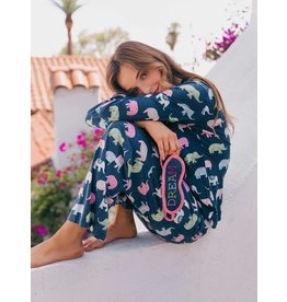 PJ Salvage PJ Salvage Playful Prints Elephant PJ Set with Mask