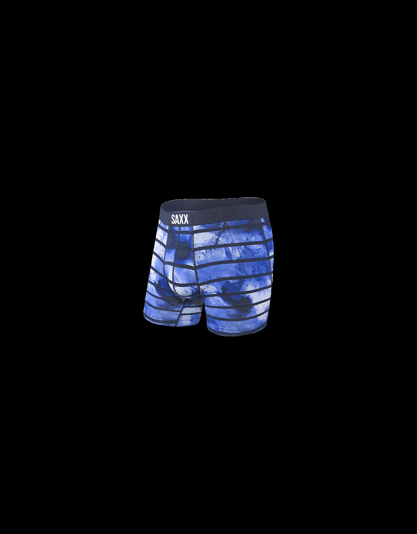 Saxx Saxx Vibe Boxer Brief - Navy Tie Dye Stripe